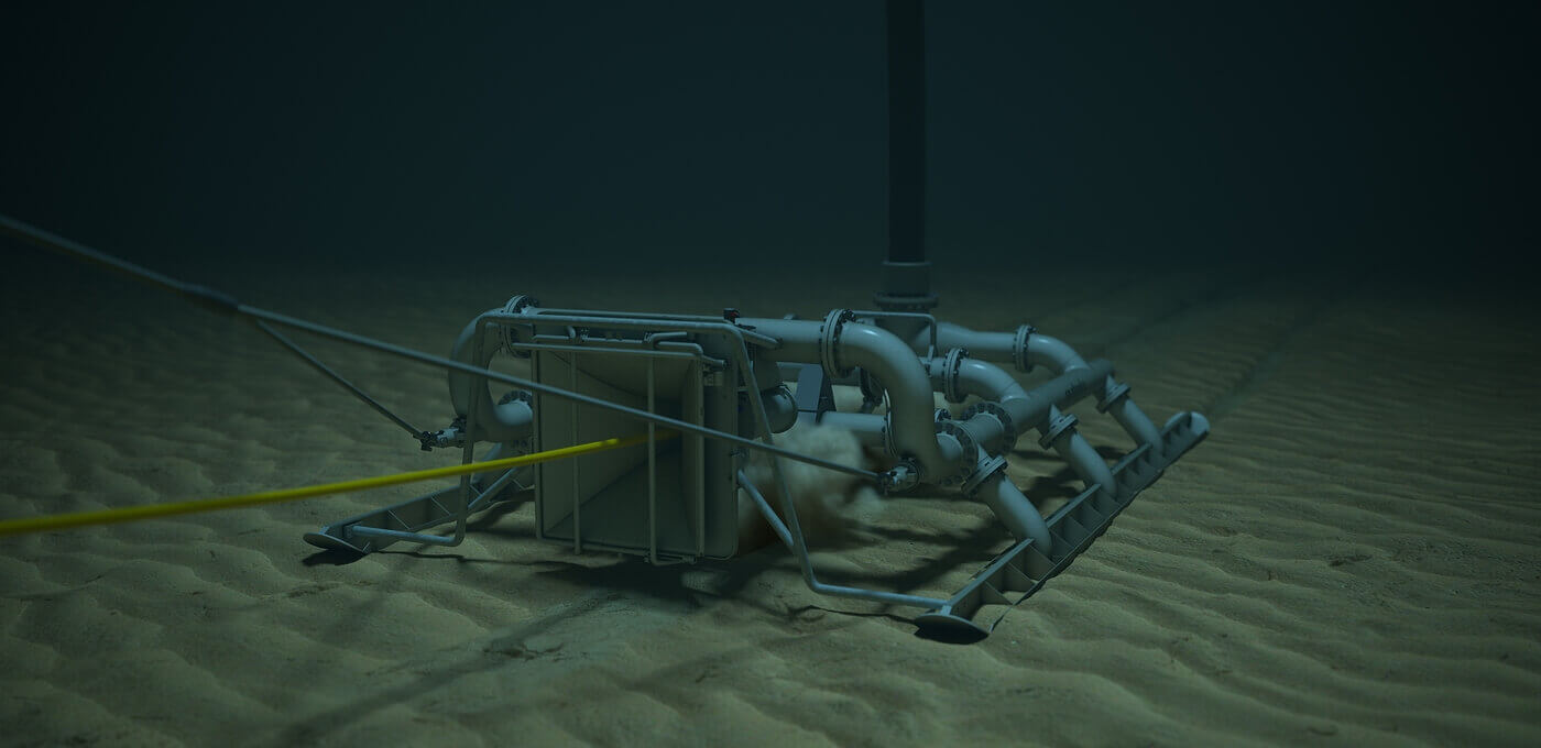 Jetting bull subsea jetting sled