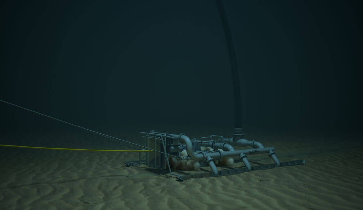 Jetting bull subsea cable trencher