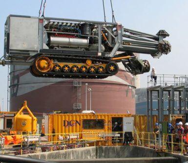 Deployment of ROCM underwater cleaning machine