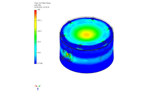 FEA on subsea component