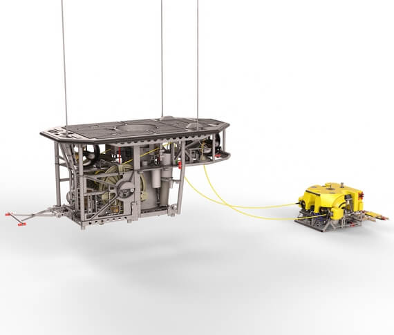 Innovative fall pipe ROV