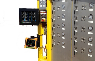 Offshore jacket upending monitoring system
