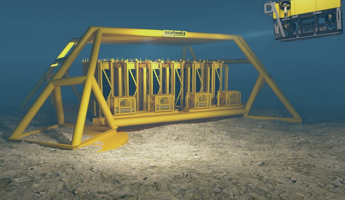 Impression of subsea fluid reservoir technology