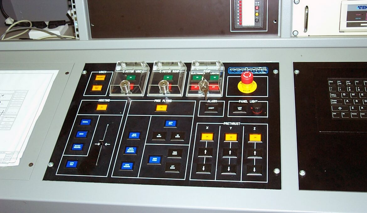 Part of the control desk related to ROV navigation