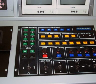 Part of the control desk related to various tasks