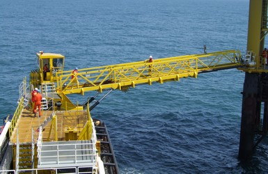 Active heave compensation for OAS gangway