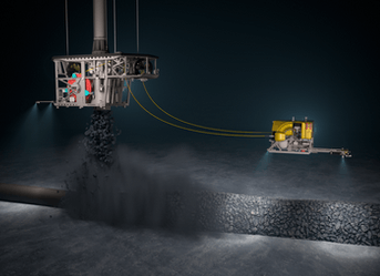 Subsea rock installation