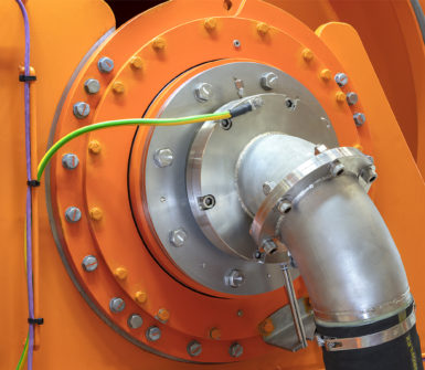 Slip ring unit, capable of transferring 1.8 MW.