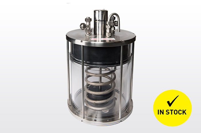 Underwater pressure compensator for light subsea constructions