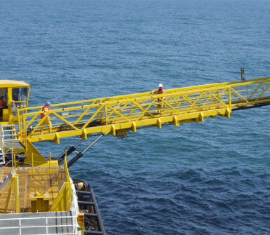 Active heave compensator for OAS gangway