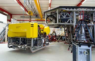 ROV electronics and tether management system for revolutionary ROV.
