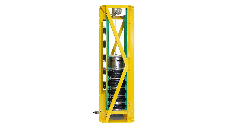 Subsea chemical storage unit - for inhibitors, biocides, MEG storage