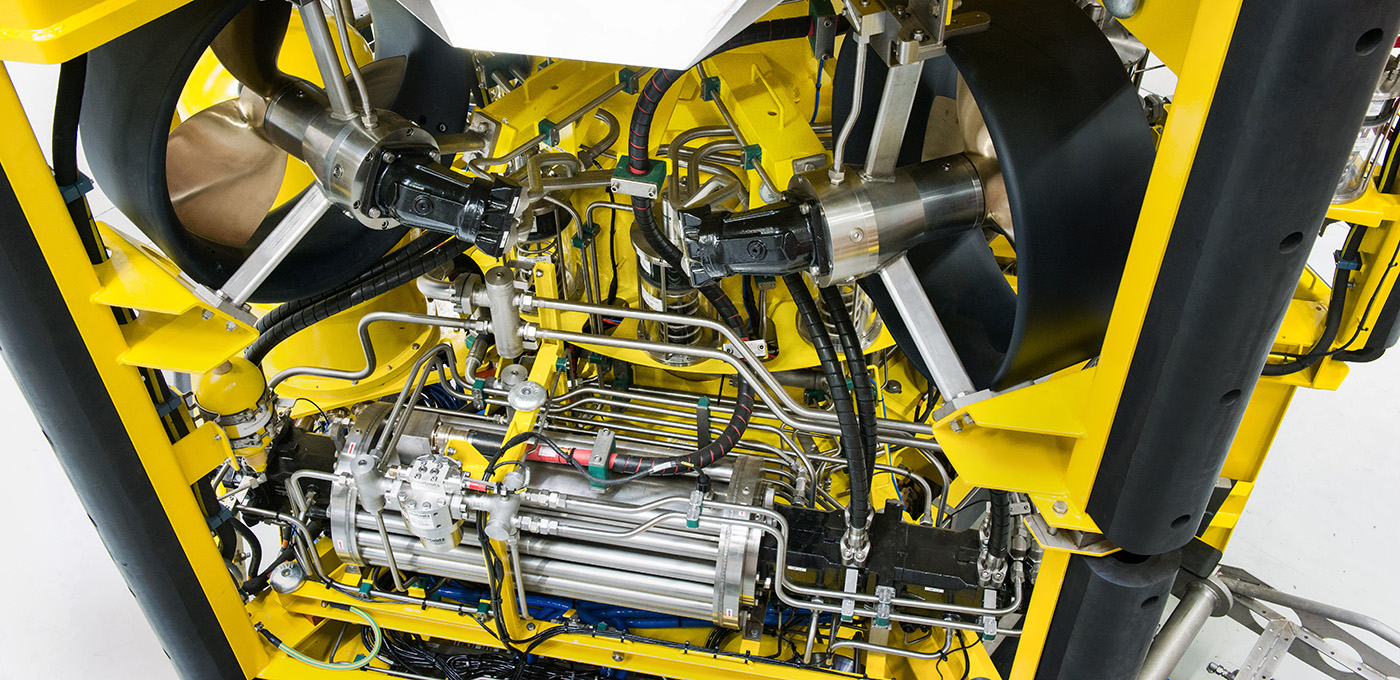remotely operated vehicle ROV 7 for subsea rock installation
