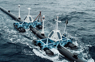 Offshore instrumentation in splash zone for remote monitoring and control of ocean cleanup