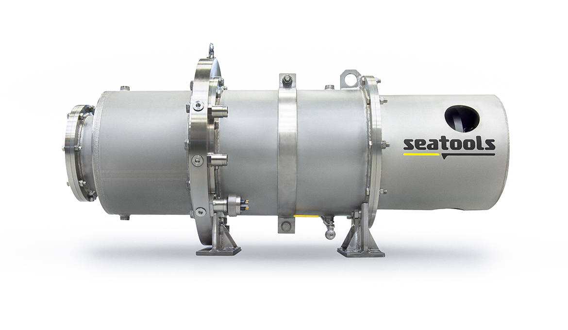8.6 kW Subsea HPU featuring an integrated subsea pressure compensator