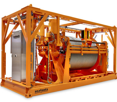 Umbilical winch for trencher, ploughs, subsea vehicles up to 3000 msw