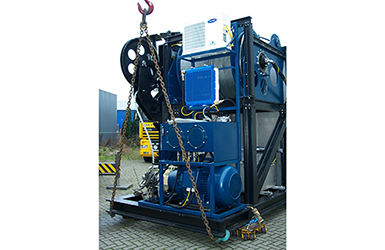 Active heave compensated hoisting system ROV LARS winch
