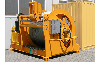 Constant tension CT umbilical reeler for power and communications of subsea trencher 1MW