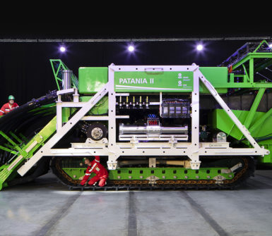 Underwater mining vehicle for 4500 meter depth Patania II