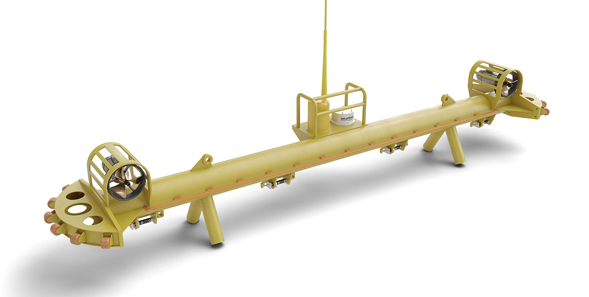 Cable and scour protection means installation monopile subsea