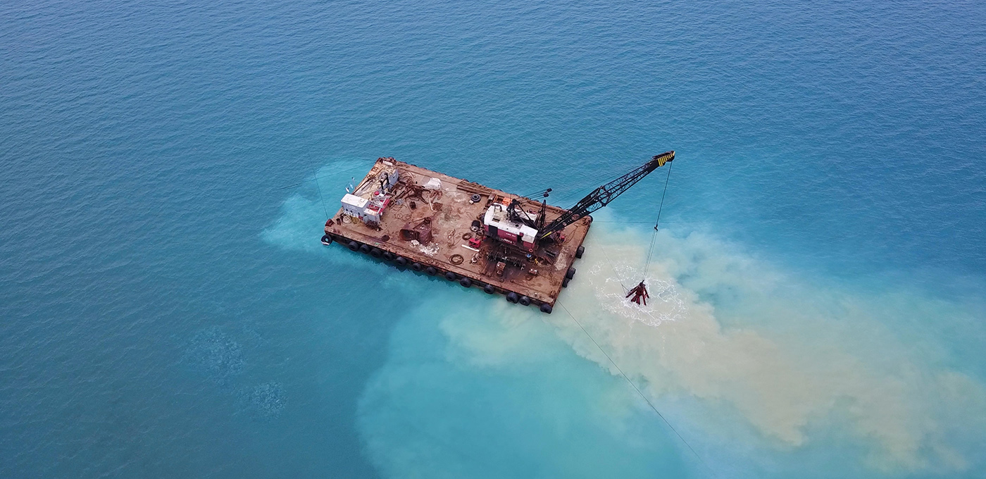 clamshell dredging monitoring and control system Seatools 2020
